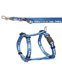 TRIXIE Puppy súprava postroj 23-34cm / 8mm + vodítko 2,00m / 8mm nebesky modrý