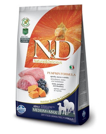Farmina N & D dog Grain Free PUMPKIN Adult medium & maxi lamb & blueberry 12 kg