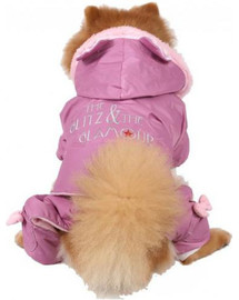DOGGY DOLLY Kombinéza Glitz&Glamour, ružová, S 23-25 cm/36-38 cm