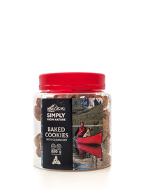 SIMPLY FROM NATURE Baked Cookies with cranberry Brusnicové sušienky 220 g