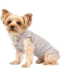 DOGGY DOLLY Klasický sveter, šedý, L 31-33 /46-48