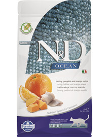 FARMINA N&D Ocean Cat Adult Herring Pumpkin and Orange 1,5 kg
