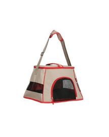 ZOLUX HAPPY CAT transportná taška 440x320x290 svetlo hnedá - červená