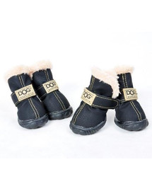 ZOLUX Topánky pre psov T2 (4,5 x 3,5 cm. Horná výška 7 cm), čierne-4ks