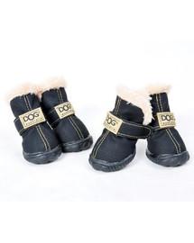ZOLUX Topánky pre psov T3 (5x4cm. Horná výška 8cm) čierne-4ks