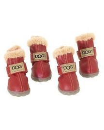 ZOLUX Topánky pre psov T4 (5,5x4,5 cm. Horná výška 8 cm), červené-4ks