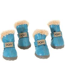 ZOLUX Topánky pre psov T1 (4 x 3 cm horná výška 7 cm) modrá 4 ks