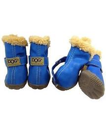 ZOLUX Topánky pre psov T4 (5,5 x 4,5 cm horná výška 8 cm) modrá 4 ks.