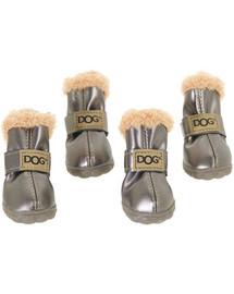 ZOLUX Topánky pre psov T3 (5x4cm. Horná výška 8cm) strieborné-4ks