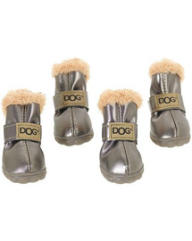 ZOLUX Topánky pre psov T4 (5,5x4,5 cm. Horná výška 8 cm) strieborné-4ks