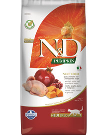 FARMINA N&D Pumpkin Cat neutered quail & pomegranate 5 kg