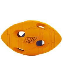 NERF pískacia lopta futbalová LED malá zeleno/oranžová