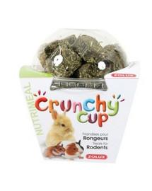 ZOLUX Crunchy Cup Blocks Maškrty lucerna / mrkva 200 g