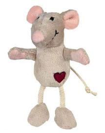 TRIXIE Myš plyšová, Béžová, 11 cm