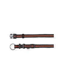 """TRIXIE Obojok """"Fusion obojok"""" 40 - 65 cm / 25 mm čierny - oranžový"""