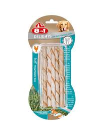 8IN1 Maškrta Delights Pro Dental Twisted Sticks 10 ks