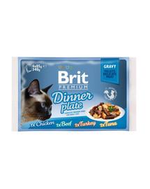 BRIT Premium Cat Dinner plate gravy 4 x 85g