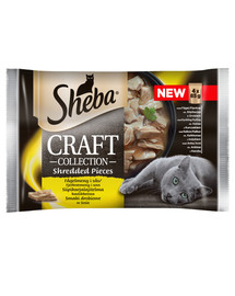 SHEBA Sachet  Craft Collection hydinová príchuť v omáčke 4 x 85g