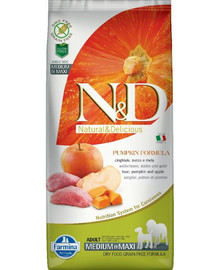 N&D GF Pumpkin Boar & Apple Adult Medium & Maxi 12 kg