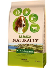 IAMS Naturally Adult Dog rich in New Zealand Lamb & Rice 2,7 kg