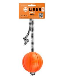 LIKER CORD Dog toy lopta na šnúrke pre psa  9 cm