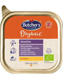 Butcher 's Cat Organic Sensitive s kuracím vanička 85g