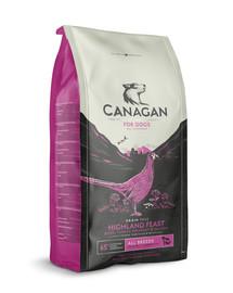 CANAGAN Dog Highland Feast 12 kg bažant