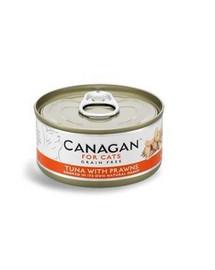 CANAGAN Cat Tuna with Prawns 75 g  tuniak a krevety