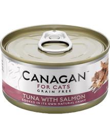 CANAGAN Cat Tuna with Salmon 75 g tuniak a losos