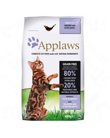 APPLAWS Dry cat Krmivo pre dospelé mačky kuracie a kačica 2 kg