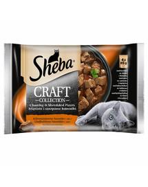 SHEBA Craft Collection mäsový mix pre mačky v omáčke 4 x 85 g