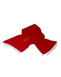 DOGGY DOLLY Šálik DD X'mas, červený, XS 18-20 cm/31-33 cm