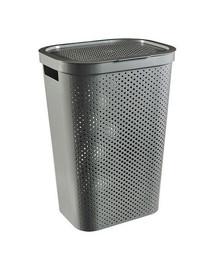 CURVER INFINITY DOTS 59L - šedý kôš na špinavé prádlo