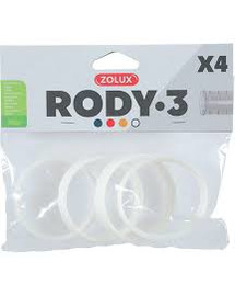 ZOLUX Komponenty Rody 3-spojovací krúžok biely 4ks