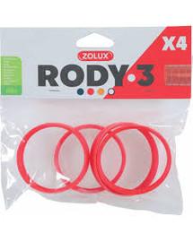 ZOLUX Komponenty Rody 3-spojovací krúžok červený 4 ks