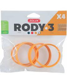ZOLUX Komponenty Rody 3-spojovací krúžok žltý 4ks