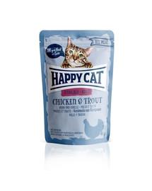 HAPPY CAT All Meat Adult Sterilised Huhn & Forelle 85 g kuracie i pstruh