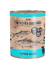 WIEJSKA ZAGRODA Rybie hody 800 g Bezobilná konzerva pre psa