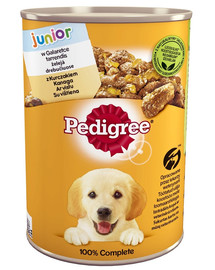 PEDIGREE Konzerva junior kurča v aspiku 400 g