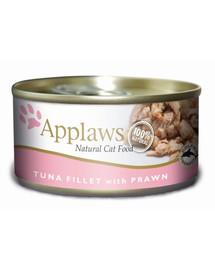 APPLAWS Tuniak a krevety I Konzerva pre mačku 156 g