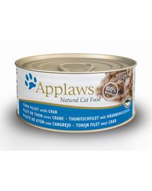 Applaws konzerva pre mačky  tuniak a krab 70g