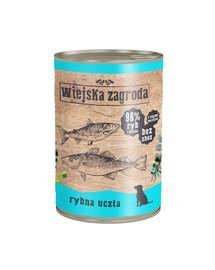 WIEJSKA ZAGRODA Rybie hody 400 g Bezobilná konzerva pre psov