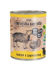 WIEJSKA ZAGRODA Morčacie a jahňacina 800 g Bezobilná konzerva pre psov