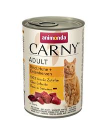 ANIMONDA Carny hovädzina/kura/kačacie srdce 400 g