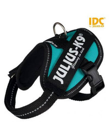 TRIXIE Postroj pre psov Julius-K9 IDC Mini / M: 49-67 cm / 22 mm Petrol