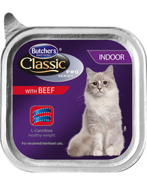 BUTCHER'S Classic Indoor Cat hovädzie Paté 100 g