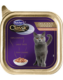 BUTCHER'S Classic Delicious Dinner Cat s lososom a kôprom 00 g