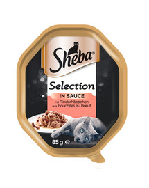 SHEBA Selection 85g hovädzie v omáčke