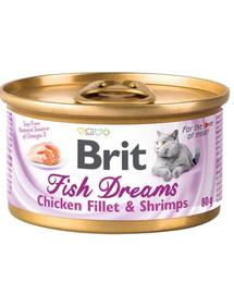 BRIT Cat Fish dreams kura a krevety 80 g
