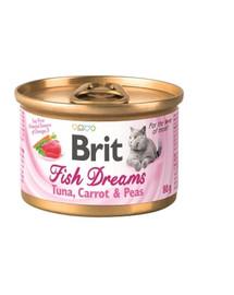 BRIT Cat Fish dreams Tuniak, mrkva a hrach 80 g